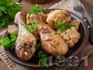 Рецепта Пилешки бутчета с карфиол на тиган